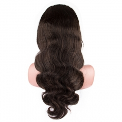 Raw Hair Body wave Full Lace Wig 130% Density  Medium Brown Lace Wholesale