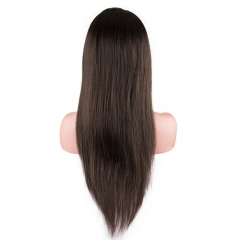 Raw Hair Straight Lace Front Wig 130% Density  Medium Brown Lace Wholesale