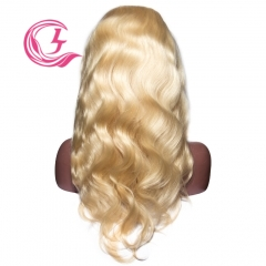 Raw Hair #613 Body wave Lace Front Wig 130% Density  Transparent Lace Wholesale
