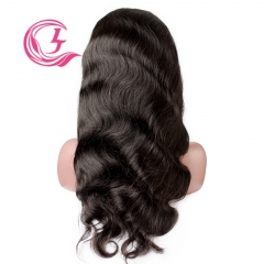Virgin Hair Body Wave Lace Front Wig 130% Density  Medium Brown Lace Wholesale