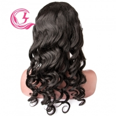 Virgin Hair Loose Wave Lace Front Wig 130% Density  Medium Brown Lace Wholesale