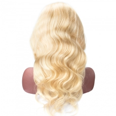 Virgin Hair #613 Body Wave Lace front Wig 130% Density  Transparent Lace Wholesale