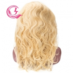 Raw Hair 613# Body Wave Front Lace Wig  Make By Three Bundles+A Frontal  Small Cap Transperant Lace