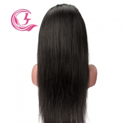 Raw Hair Straight Front Lace Wig  Make By Three Bundles+A Frontal  Small Cap Transperant Lace Wholesale
