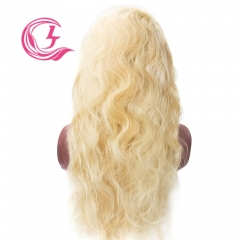 Raw Hair 613# Body Wave Front Lace Wig  Make By Three Bundles+A Closure Small Cap Transperant Lace  Wholesale