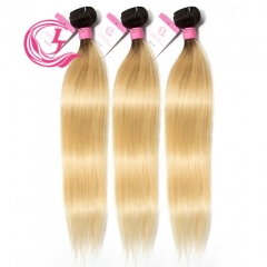 Virgin Hair of Straight Bundle 1B#613 Blonde 100g With Double Weft For Medium High Market