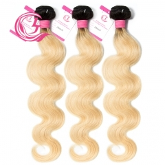 Virgin Hair of Deep Wave Bundle 1B#613 Blonde 100g With Double Weft For Medium High Market