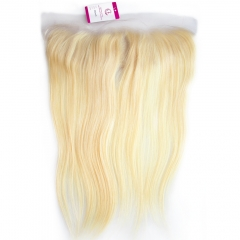 Unprocessed  Raw Hair Straight 13x4 Frontal 613# Color Transparent lace 130% density