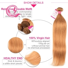 Virgin Hair of Straight Bundle 30# 100g With Double Weft For Medium High Market