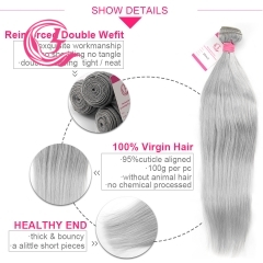 Virgin Hair of Straight Bundle Gray# 100g With Double Weft For Medium High Market